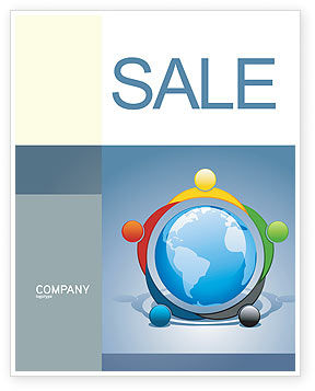 Global: Five Continents Sale Poster Template #03637