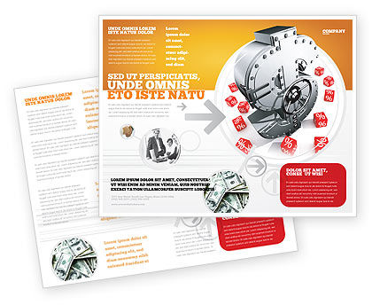 Financial/Accounting: Dollar Safe Brochure Template #03638