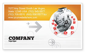 Financial/Accounting: Dollar Safe Business Card Template #03638