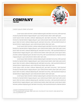Dollar Safe Letterhead Template, 03638, Financial/Accounting — PoweredTemplate.com