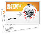 Financial/Accounting: Dollar Safe Postcard Template #03638