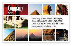 Careers/Industry: Traveling Business Card Template #03640