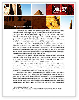 Careers/Industry: Traveling Letterhead Template #03640