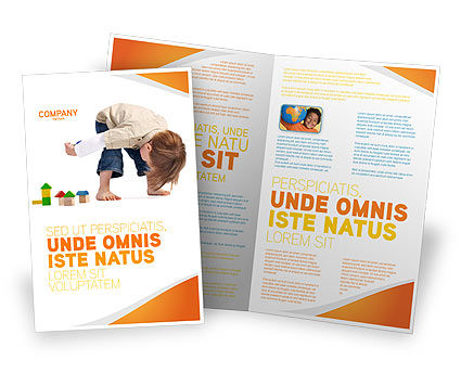 Child Games Brochure Template, 03642, Education & Training — PoweredTemplate.com