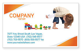 Child Games Business Card Template, 03642, Education & Training — PoweredTemplate.com