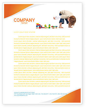 Child Games Letterhead Template, 03642, Education & Training — PoweredTemplate.com