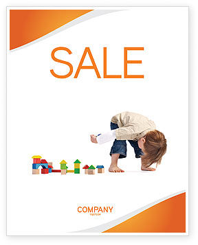 Child Games Sale Poster Template, 03642, Education & Training — PoweredTemplate.com