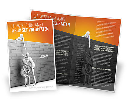 Helping To Escape Brochure Template, 03647, Business Concepts — PoweredTemplate.com