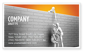 Helping To Escape Business Card Template, 03647, Business Concepts — PoweredTemplate.com