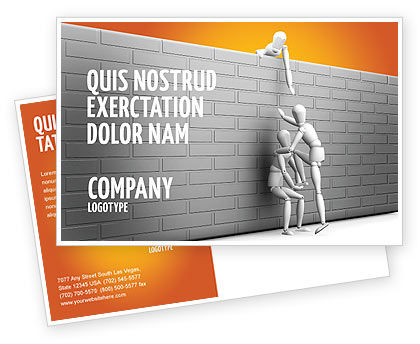 Business Concepts: Helping To Escape Postcard Template #03647