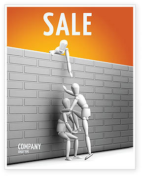 Helping To Escape Sale Poster Template, 03647, Business Concepts — PoweredTemplate.com