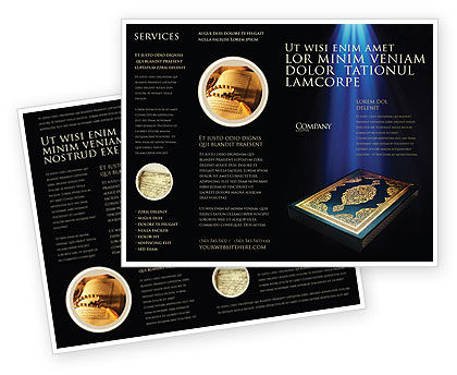 Religious/Spiritual: Modèle de Brochure de coran #03651