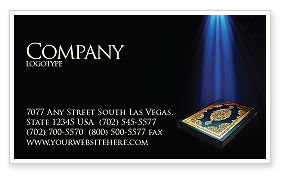 Koran Business Card Template, 03651, Religious/Spiritual — PoweredTemplate.com