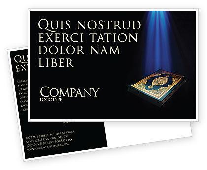 Koran Postcard Template, 03651, Religious/Spiritual — PoweredTemplate.com