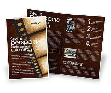 movie strip brochure template