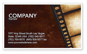 Careers/Industry: Movie Strip Business Card Template #03652