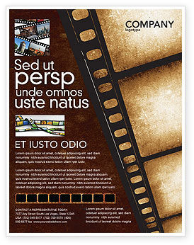 Movie strip flyer template background in microsoft word for Movie brochure template