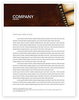 Careers/Industry: Movie Strip Letterhead Template #03652
