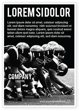 Sports: American Football Dallas Cowboys Advertentie Template #03653