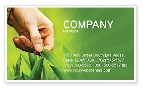Plant Breeding Business Card Template, 03655, Agriculture and Animals — PoweredTemplate.com