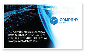 Digital Stream Business Card Template, 03656, Technology, Science & Computers — PoweredTemplate.com