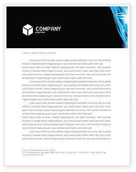 Digital Stream Letterhead Template, 03656, Technology, Science & Computers — PoweredTemplate.com