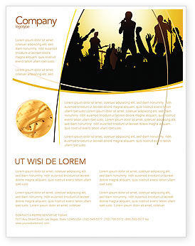Ensemble Flyer Template, 03657, Careers/Industry — PoweredTemplate.com