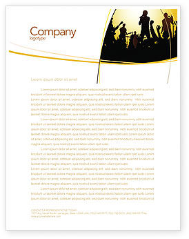 Ensemble Letterhead Template, 03657, Careers/Industry — PoweredTemplate.com