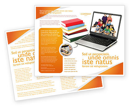 education brochure templates free - computer study brochure template design and layout