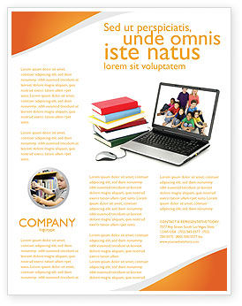Computer Study Flyer Template, 03659, Education & Training — PoweredTemplate.com