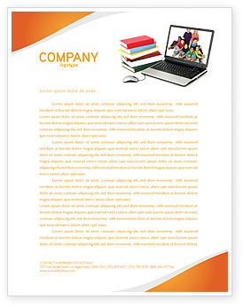 Education & Training: Computer Study Letterhead Template #03659