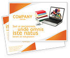 Education & Training: Computer Study Postcard Template #03659