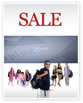 Secondary Schoolboy Sale Poster Template, 03662, People — PoweredTemplate.com