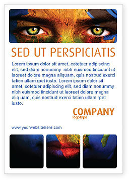 Global: Face of Earth Ad Template #03663