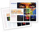 Global: Face of Earth Brochure Template #03663
