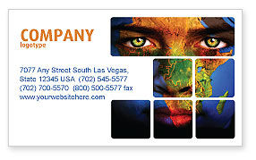 Global: Face of Earth Business Card Template #03663