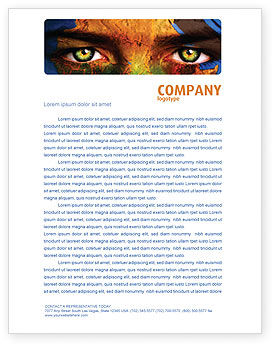 Global: Face of Earth Letterhead Template #03663