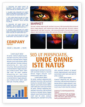 Face of Earth Newsletter Template, 03663, Global — PoweredTemplate.com