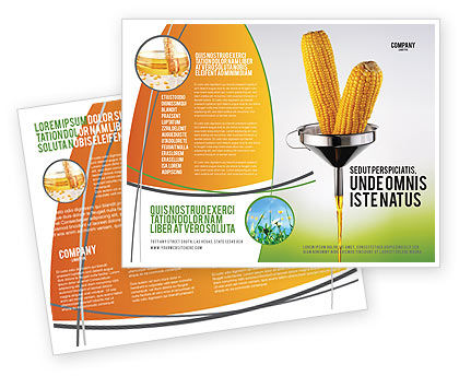 Careers/Industry: Corn Oil Brochure Template #03664