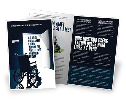 Wheelchair Brochure Template, 03665, Medical — PoweredTemplate.com