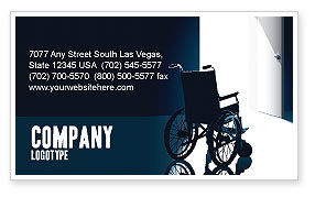 Medical: Wheelchair Business Card Template #03665