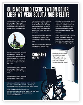 Wheelchair Flyer Template, 03665, Medical — PoweredTemplate.com