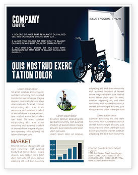 Medical: Wheelchair Newsletter Template #03665
