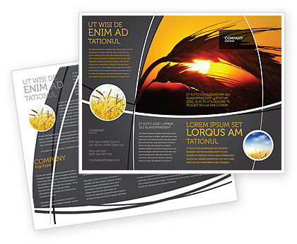 Spikelets Brochure Template, 03672, Agriculture and Animals — PoweredTemplate.com