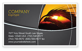 Spikelets Business Card Template, 03672, Agriculture and Animals — PoweredTemplate.com