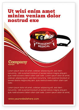 Medical Kit Ad Template, 03674, Medical — PoweredTemplate.com