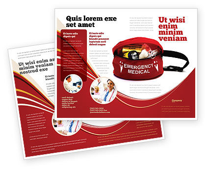 Medical Kit Brochure Template, 03674, Medical — PoweredTemplate.com