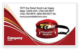 Medical Kit Business Card Template, 03674, Medical — PoweredTemplate.com