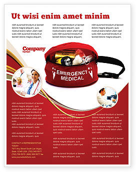 medical kit flyer template background in microsoft word publisher
