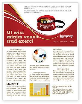 Medical Kit Newsletter Template, 03674, Medical — PoweredTemplate.com
